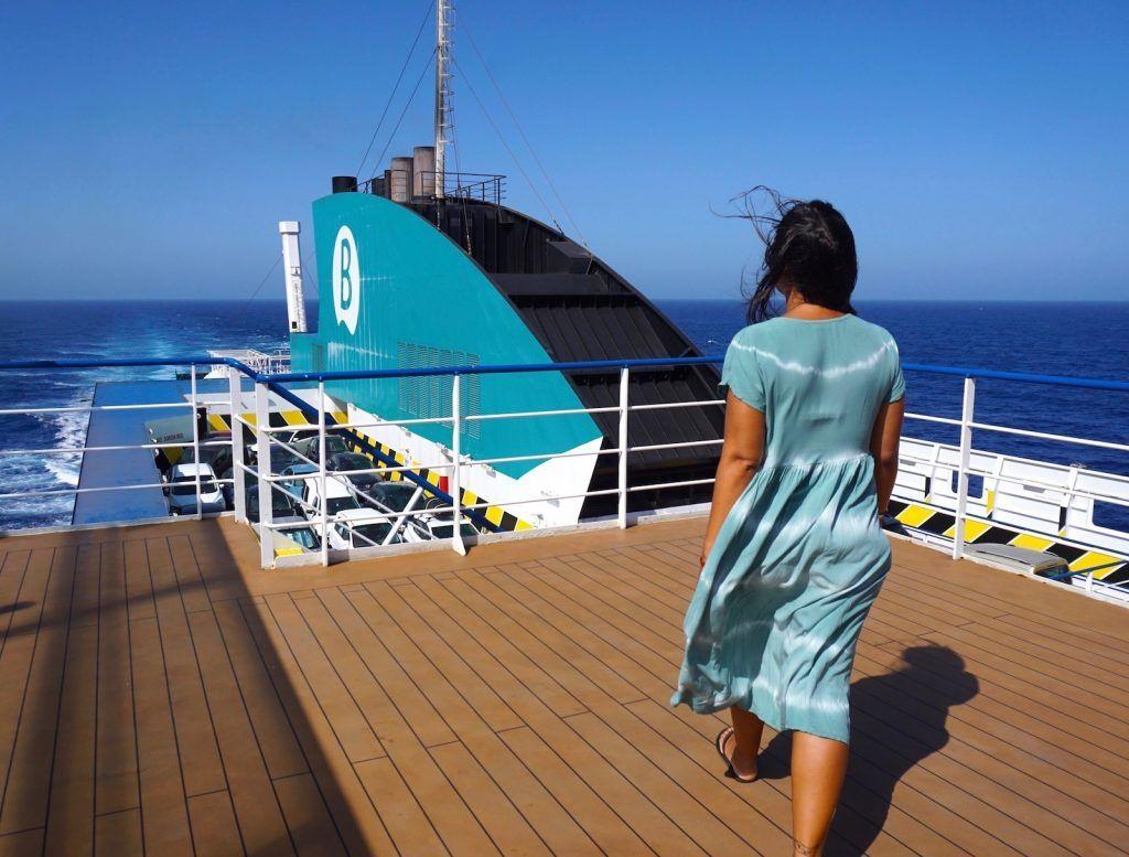Nos encantó hacer la travesía en barco desde Las Palmas hasta Huelva