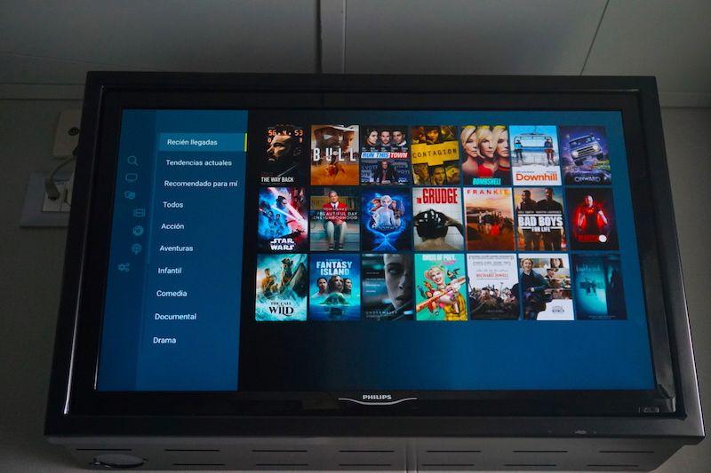 La Smart TV de nuestro camarote