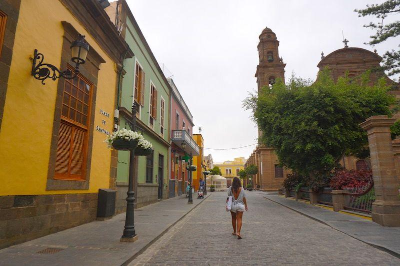 Calles coloridas de Gáldar