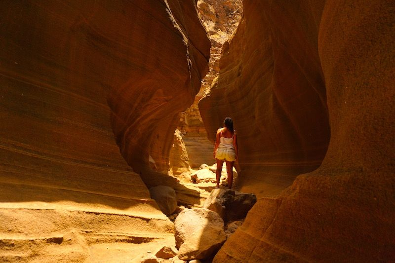 El Barranco de las Vacas, conocido como el mini antelope canyon
