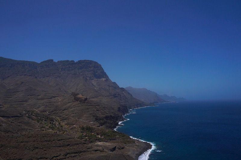Uno de los paisajes que verás en el roadtrip por la carretera GC-200