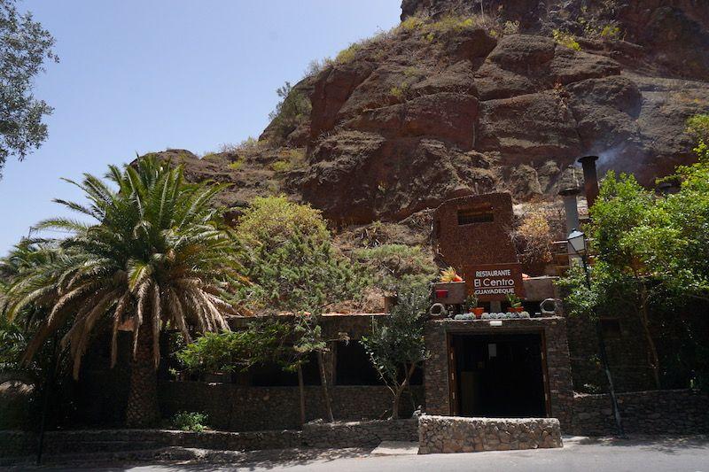 Entrada al restaurante El Centro, en el Barranco de Guayadeque