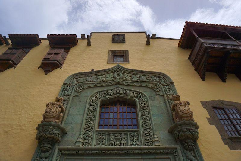 La fachada de la Casa Colón en La Vegueta