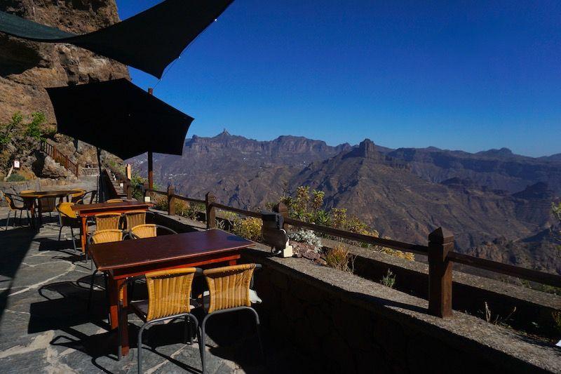Probablemente el restaurante con las mejores vistas de la isla