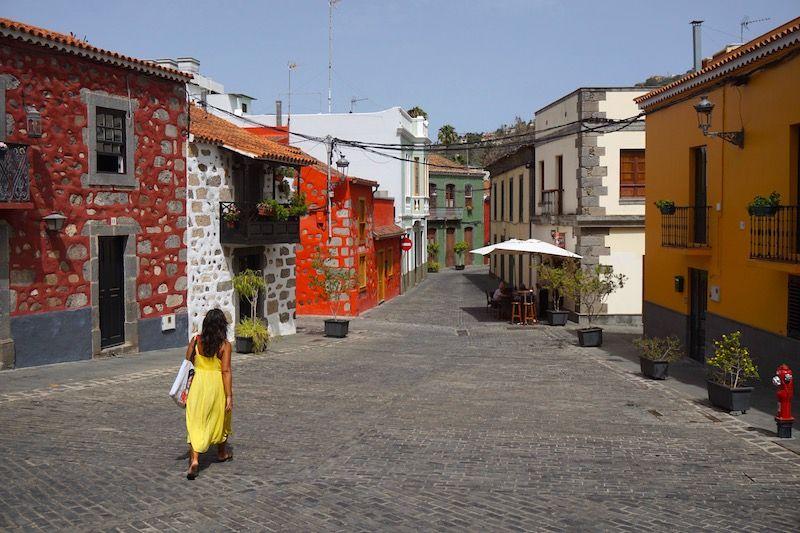 Calles coloridas en Santa Brígida