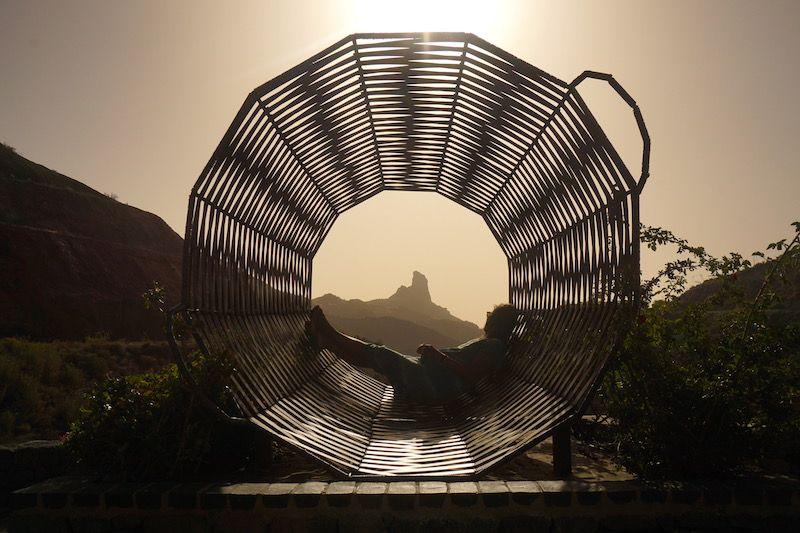 La cesta con el Roque Bentayga