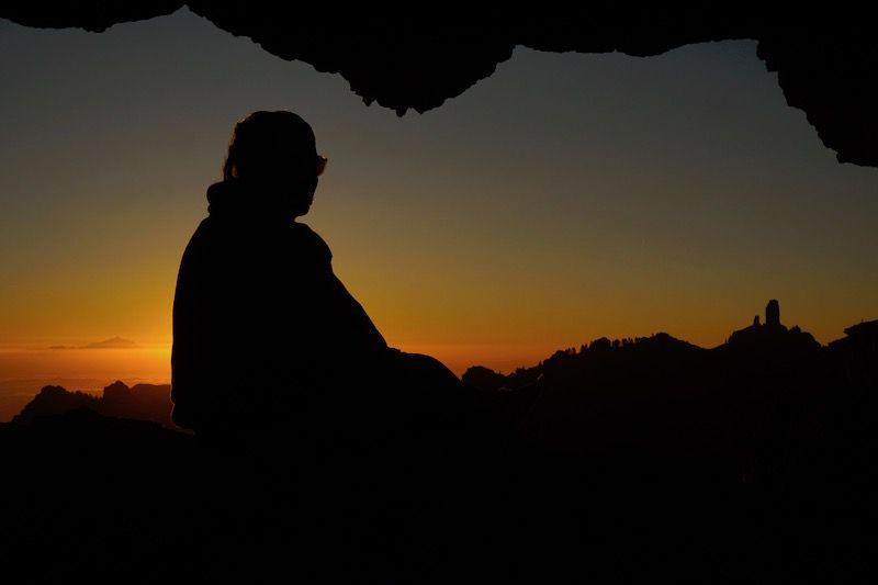 No te pierdas el que fue, para nosotrxs, el mejor atardecer en la isla en la Ventana de Nublo
