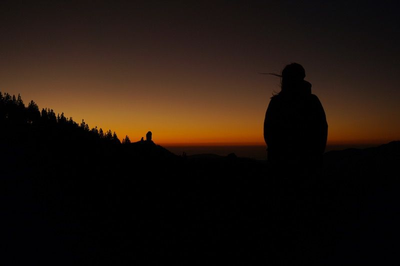 El Roque Nublo desde la Ventana del Nublo