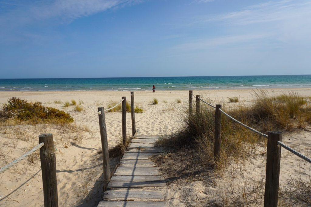 Llegando a la playa de Cacela Velha