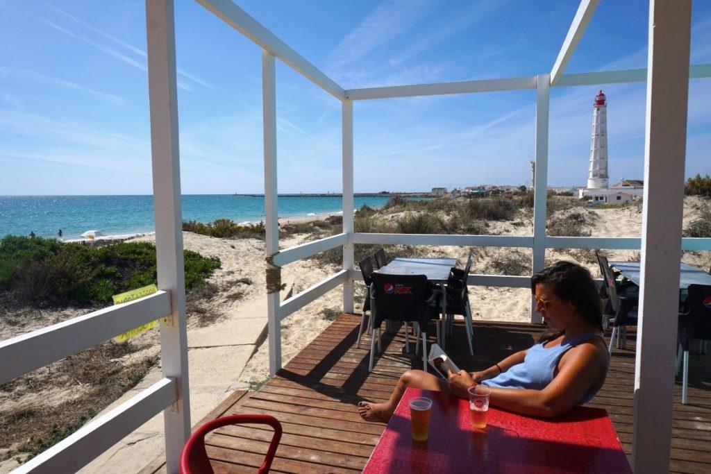 Bar de playa en Praia do Farol