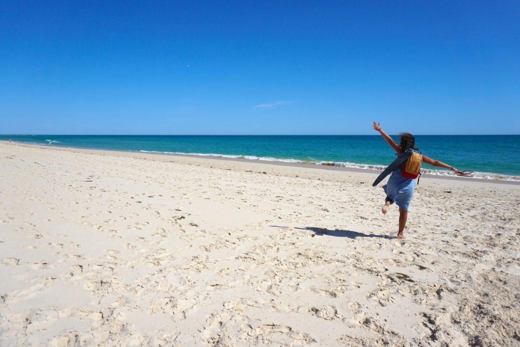 Praia da Fuseta, de arena blanca y agua turquesa