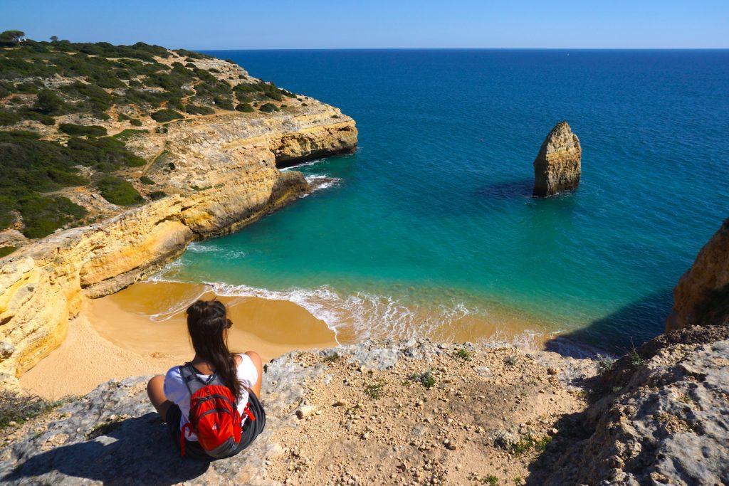 Praia do Carvalho, Percurso dos Sete Vales Suspensos